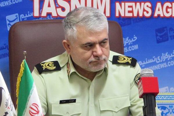 مراسم صبحگاه مشترک نیروهای انتظامی شرق تهران برگزار شد