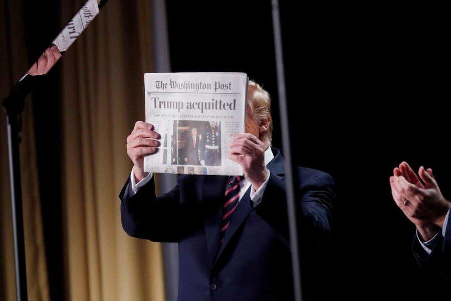 عکس روز، سند تبرئه ترامپ