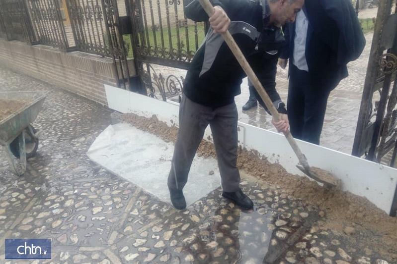اقدامات حفاظتی در بناهای تاریخی خراسان شمالی با هدف آمادگی در برابر بارش های احتمالی