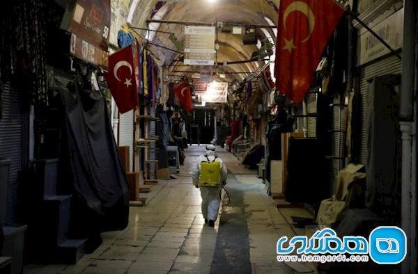 توقف مرمت بازار عظیم استانبول به خاطر کرونا