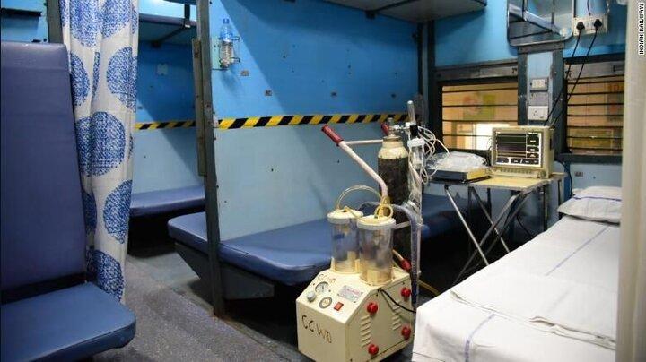 تبدیل واگن های قطار در هند به بیمارستان برای درمان کرونا، قدیمی ترین راه آهن آسیا متوقف شد