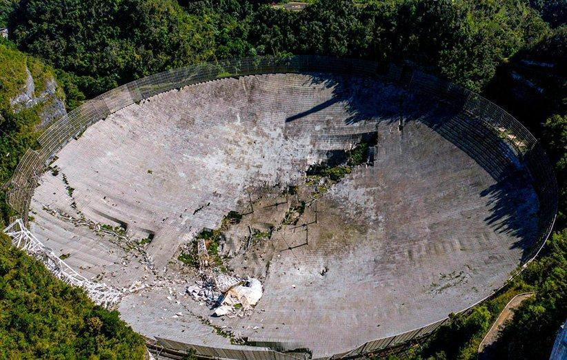 خاتمه حادثه عظیم برای تلسکوپ تاریخی آرسیبو روی داد