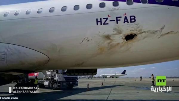 (ویدئو) خسارات حمله حوثی ها به فرودگاه أب ها در عربستان