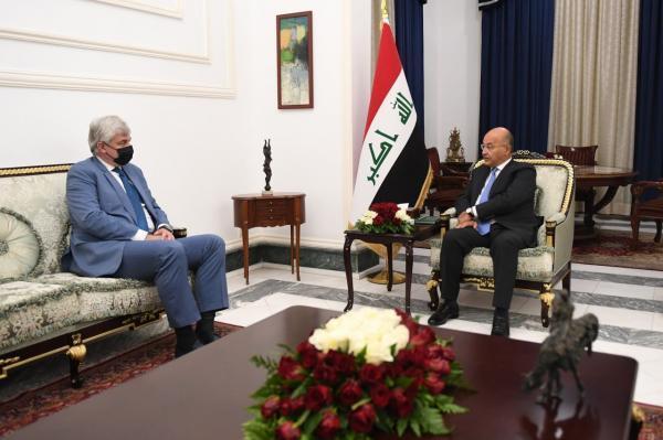 خبرنگاران رییس جمهوری عراق با سفیر روسیه در بغداد ملاقات کرد